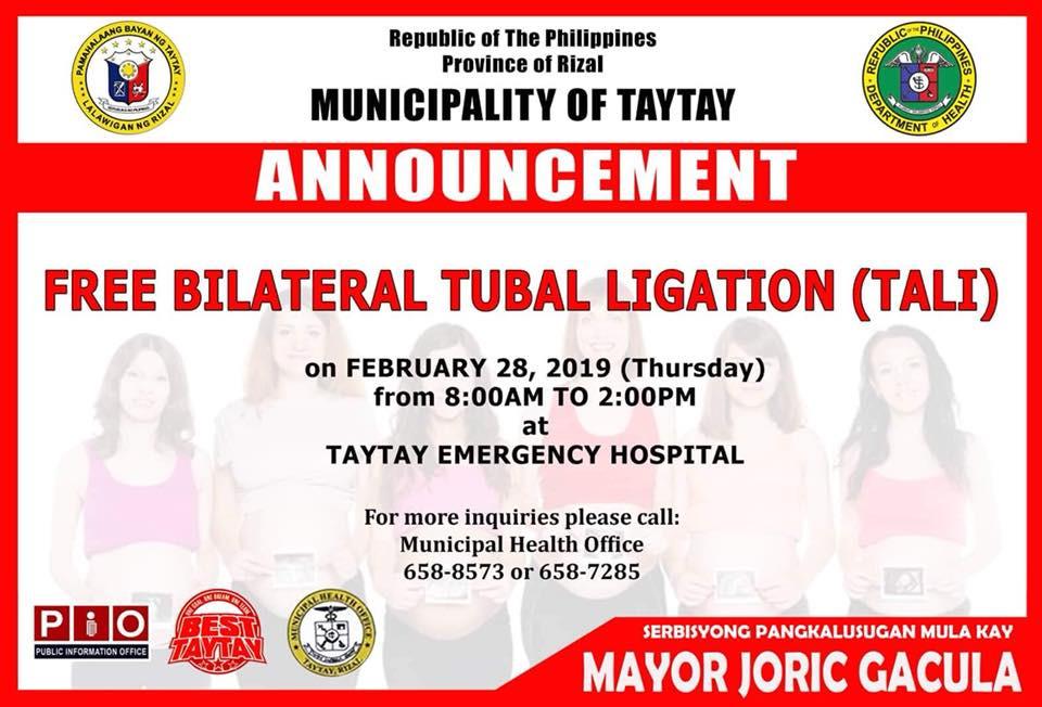 Free Bilateral Tubal Ligation