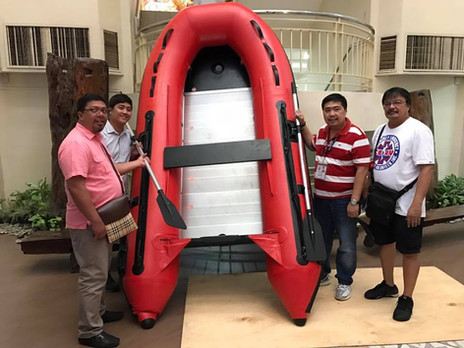 Acquired 10 new Rubber Boats for Taytay Rescue