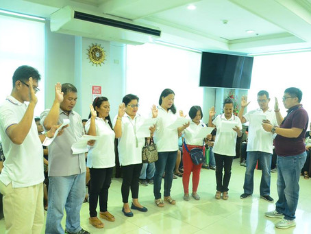 Oath-taking of the newly elected officers and members of Arenda Balikatan Homeowners Association Inc