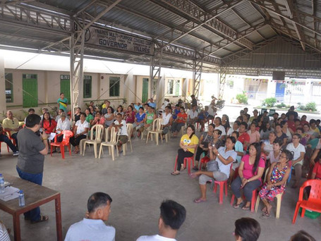 Oath-taking of the newly elected officers and members of NTHOAI (Nagkakaisang Tinig Home Owners Asso