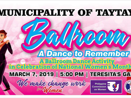"""Ballroom - A Dance To Remember"""" in celebration of National Women's Month bilang pagsalubong"""