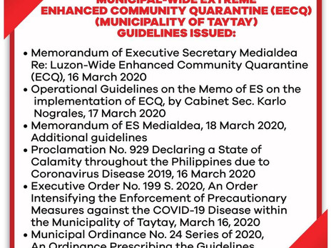 Extreme Enhanced Community Quarantine(E.E.C.Q) Is Imposed. Barangay Home Quarantine Passes Will Be D