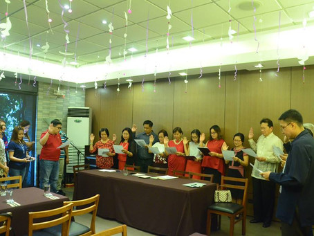 Oath-taking of the newly elected officers and members of Palmera 1 HomeOwners Association