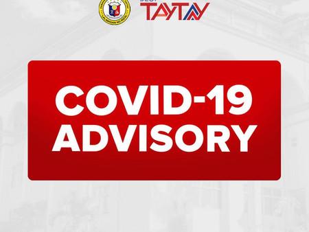 COVID -19 Advisory From Municipal Health Office