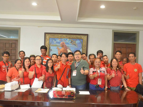 Oath-taking of the newly elected officers and members