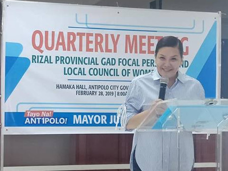 Rizal Provincial GAD focal Persons and LCW Quarterly Meeting at Antipolo City Hall