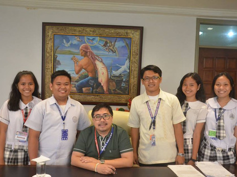Courtesy visit of Muzon National High School requesting some assistance from Mayor Joric Gacula.