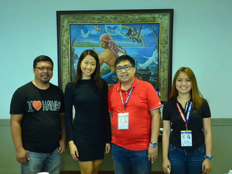 Courtesy visit of Ms. Katryn Jade Cudiamat, official candidate of Rizal Province to Ms. World Philip
