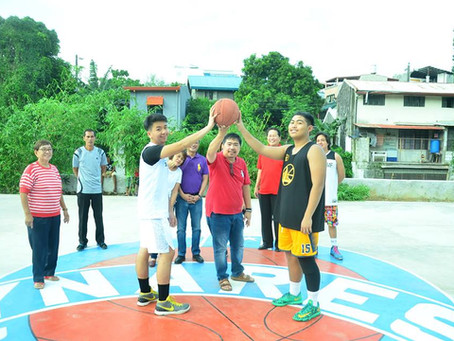 Inauguration of Palmera 1 Olympic Size Basketball Court , with Mayor Joric Gacula, Vice Gov.Jun Rey