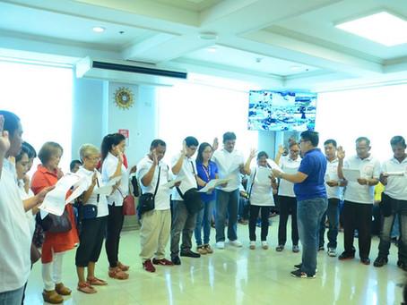 Oath-taking of the newly elected officers and members of DIWA NG MAGKAKAPIT BAHAY SA TAYTAY-FLOODWAY