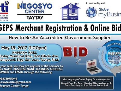 PhilGEPS: Government e-Procurement System Seminar