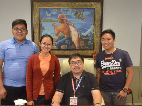 Courtesy visit of Baptist Bible Seminary & Institute (BBSI ) graduating students.
