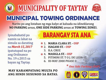 Municipal Towing Ordinance and Areas