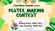 Poster Making for Nutrition Month 2020