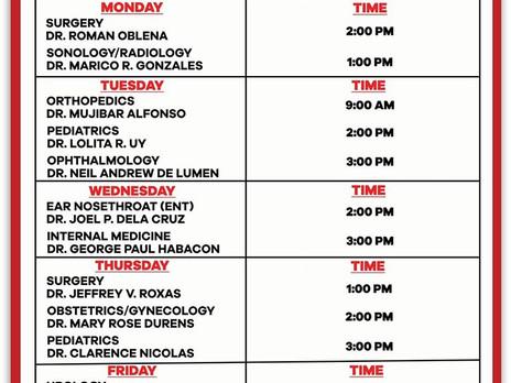 Schedule of Consultation
