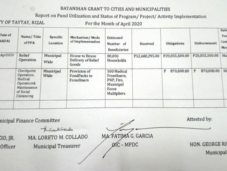 The Bayanihan Grant To Cities and Municipalities