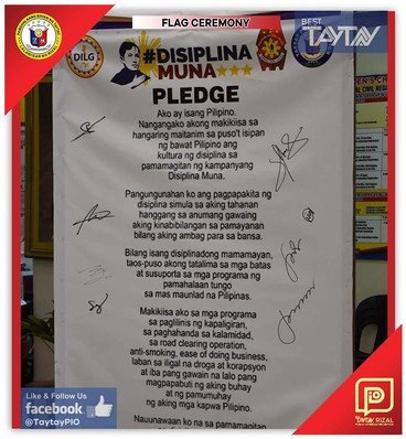 "Pledge of ""Disiplina Muna"""