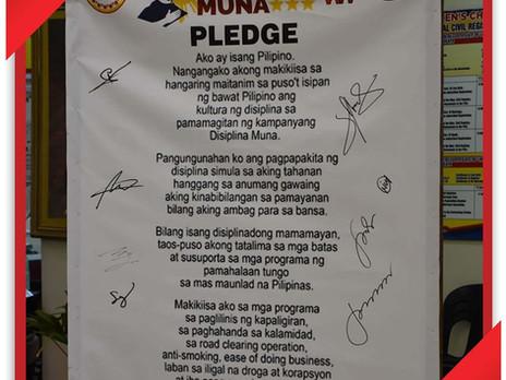 "Pledge of ""Disiplina Muna"""