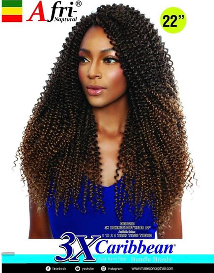 "Afri-Naptural: 3X Caribbean Bohemian Soft Water 22"" (CB03)"