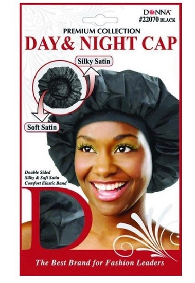 DONNA PREMIUM COLLECTION DAY & NIGHT CAP - BLACK #22070