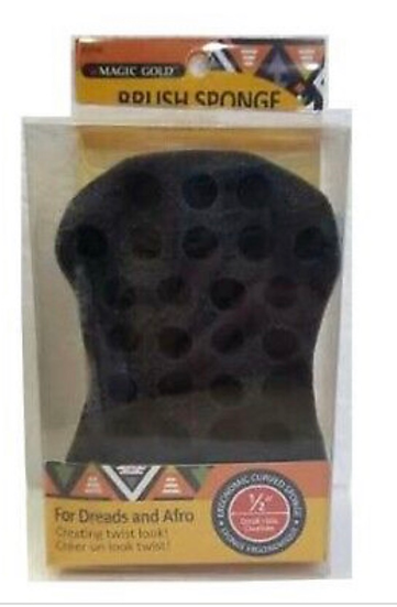 """Magic Gold Brush Sponge For Dreads and Afro 1/2"""" Small Hole #7499"""