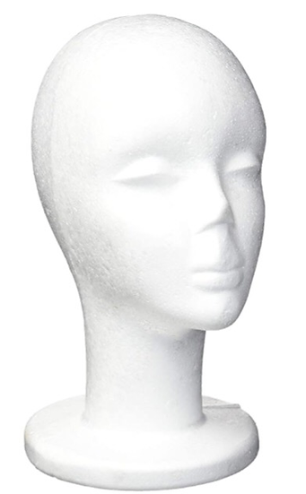Female Foam Mannequin Head, Wig Display