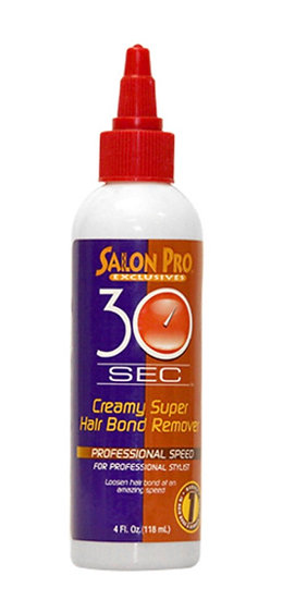SALON PRO 30 SEC CREAMY SUPER HAIR BOND REMOVER (4 OZ)