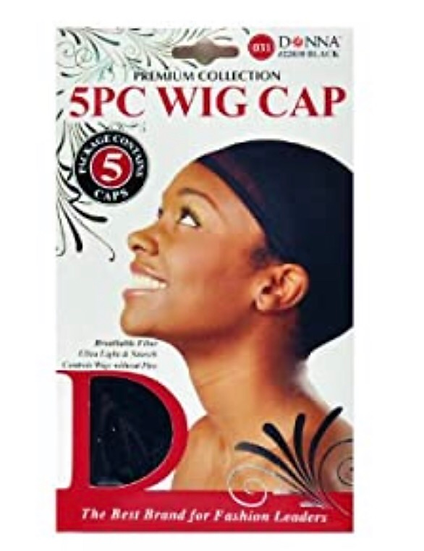 Donna Premium Collection 5 Piece Wig Cap #22030 Black