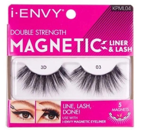 Kiss i Envy Double Strength Magnetic Eyelashes - KPML04