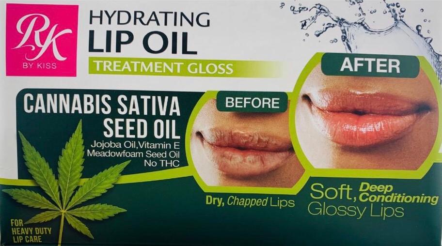 Ruby Kisses Hydrating Cannabis Sativa Seed Lip Oil Treatment Gloss – RL004D1
