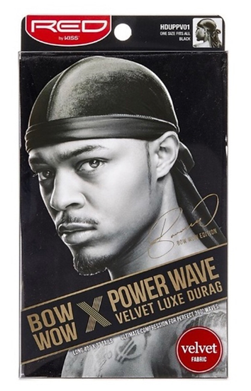 Red by Kiss Bow Wow Power Wave Velvet Luxe Durag