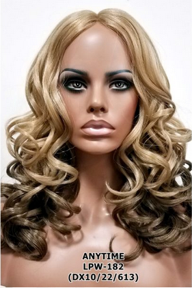 Long Loose Curly Lace Center Part Wig