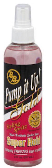 Bronner Bros Pump It Up Spritz Gold Super Hold 8 oz