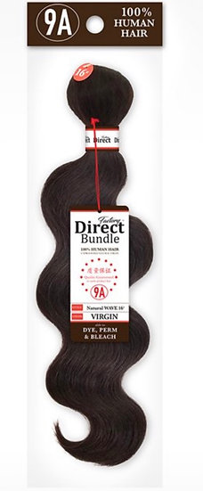 "FACTORY DIRECT 9A 100% HUMAN HAIR NATURAL WAVE BUNDLE 10"" TO 24"" (FNW)"