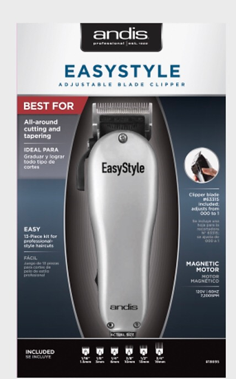 EasyStyle Adjustable Blade Clipper — 13 Piece Kit