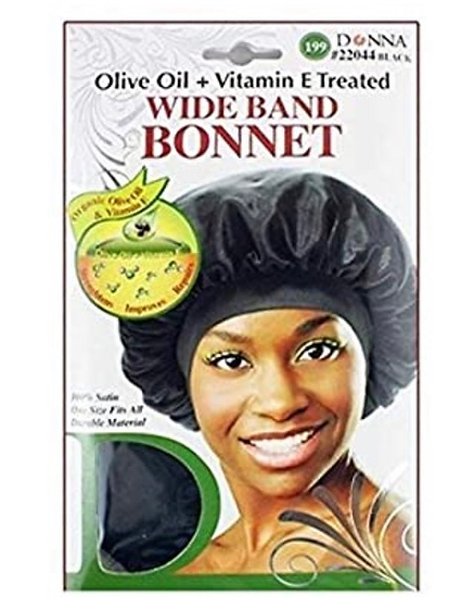 Donna Olive Oil & Vitamin E Treated Wide Band Bonnet #22044