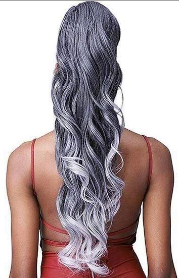 Bobbi Boss Miss Origin Tress Up Human Hair Blend Ponytail - MOD025 LOOSE CURL 28