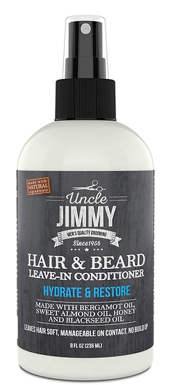 Uncle Jimmy HAIR & BEARD LEAVE-IN CONDITIONER 8OZ
