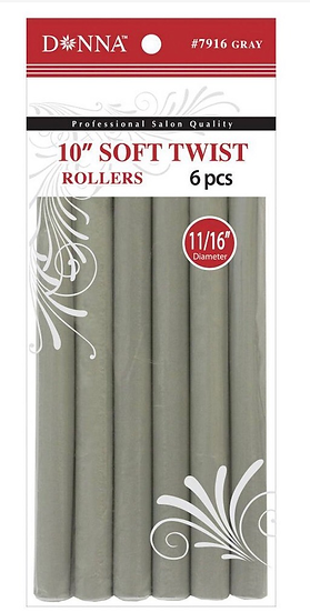 Donna Soft Twist Hair Rollers 6pc