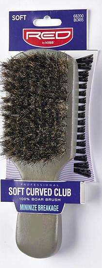 100% Boar Soft Curved Club Bristle Brush