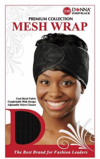 Donna Mesh Wrap Black 22218 XL