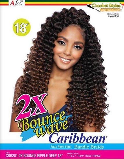 "Afri Naptural 2X BOUNCE RIPPLE DEEP Crochet Braid 18"""