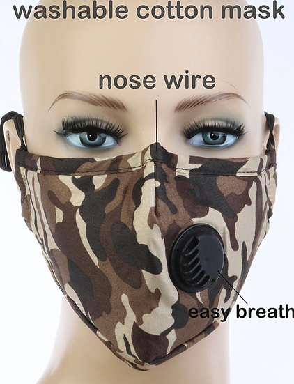 Adult Maske NOSE WIRE NO FILTER INCLUDED 3 LAYERS 1PCS