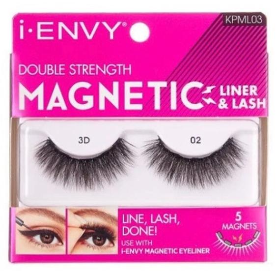 Kiss i Envy Double Strength Magnetic Eyelashes - KPML03