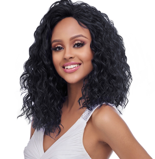 Synthetic Hair Lace Front Wig 4X4 Swiss Silk Base FLS10