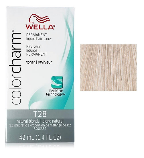 Wella Color Charm Permanent Liquid Toner T28 Natural Blonde 1.4 oz