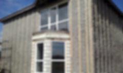 фасад после нанесения эковаты