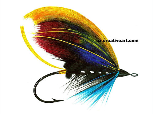 Red Blue Yellow East Coast Salmon Fly