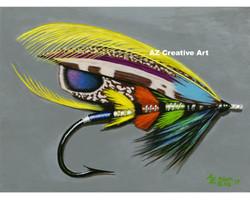 Rainbow Salmon Fly
