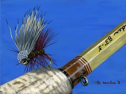 Elk Hair Caddis on Schroeder Rod